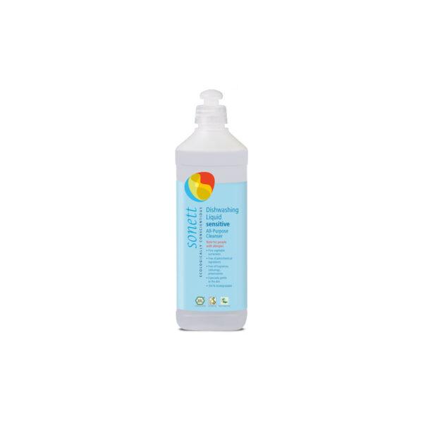 Жидкое средство для мытья посуды, универсальное чистящее средство Sensitive для чувствительной кожи 500 мл