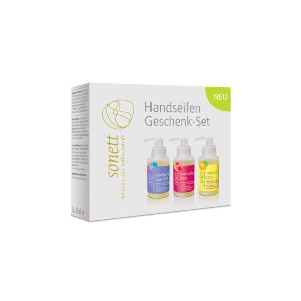 Подарочный набор из мыл для рук (Цитрус, Лаванда, Роза) 3х120 мл